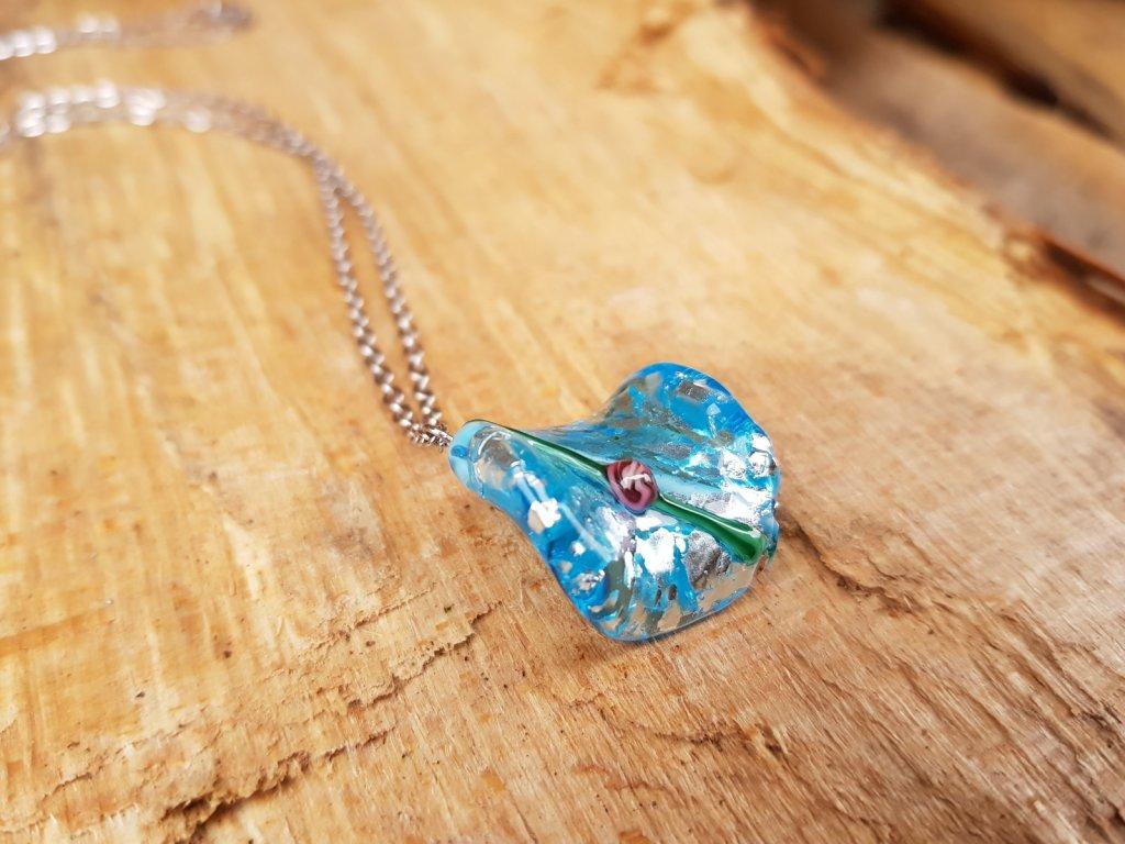 Madlenka Náhrdelník (ocel a vinutá perle)1