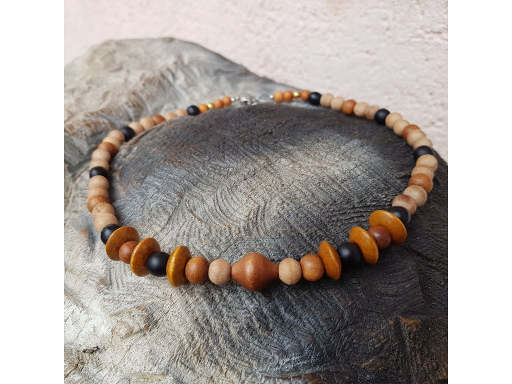 Rob Pánský náhrdelník (dřevo, santal)1