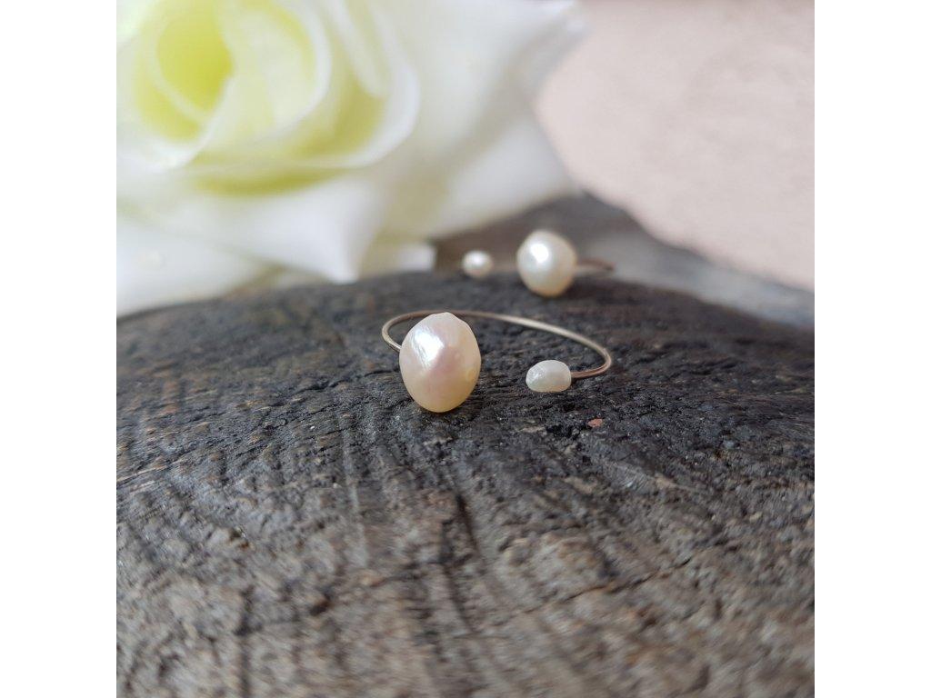 Perlení 16 Prstýnek (říční perly)1