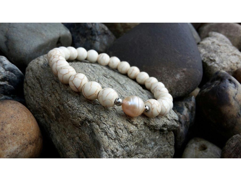 Nikolle Náramek (howlit a říční perla)1