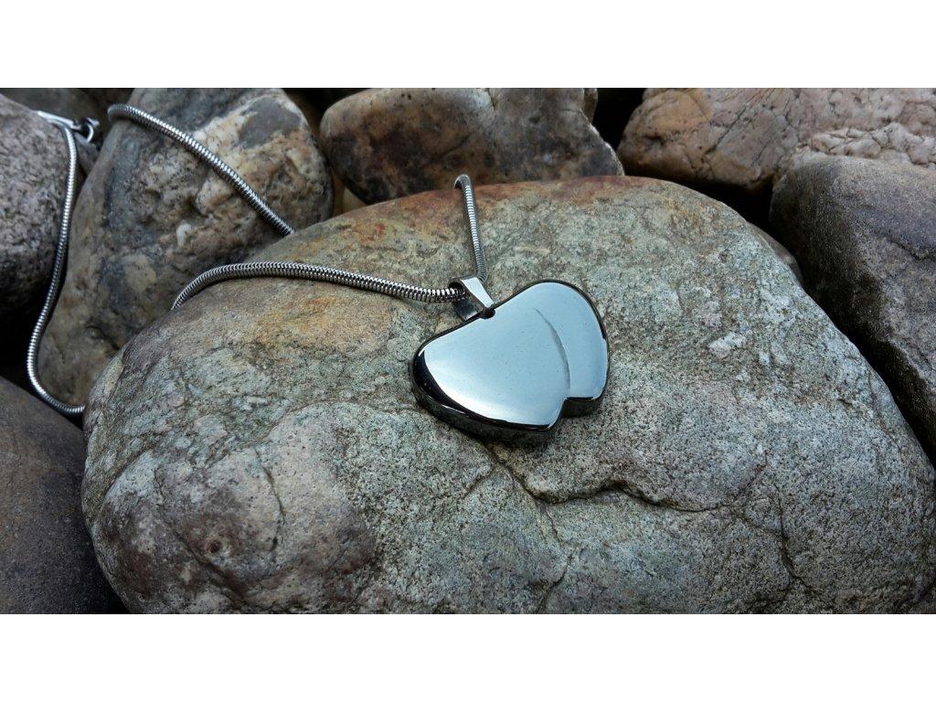 Unique Unisex náhrdelník (ocel a hematit)1