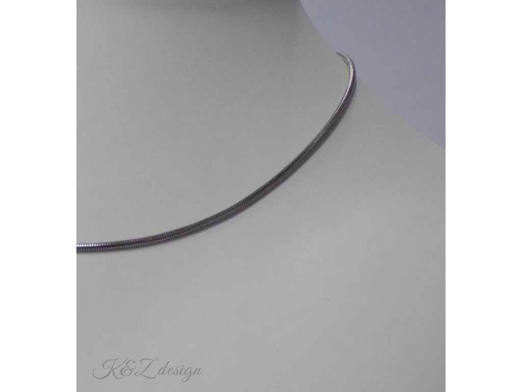 Hadí nerezový řetízek délka 45 cm. průměr 1.9 mm