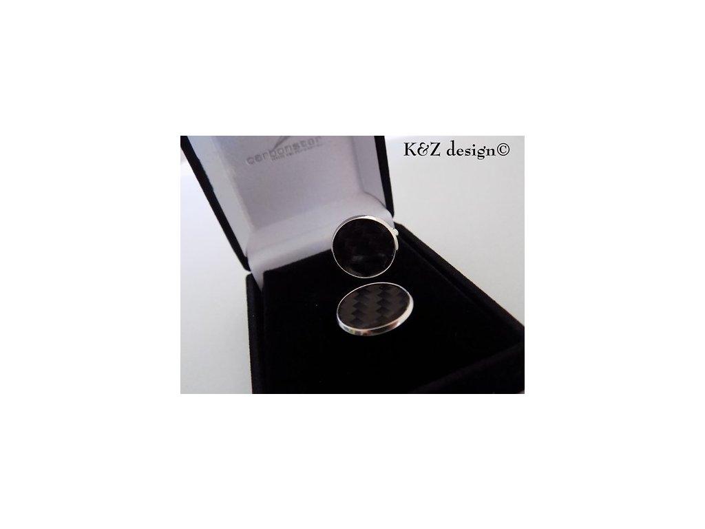 Luxusní karbonové manžetové knoflíčky v krabičce (Barva Zlaté)