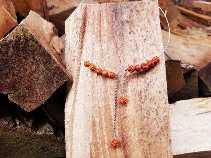 Santal Náhrdelník (rudraksha, santalové dřevo)1