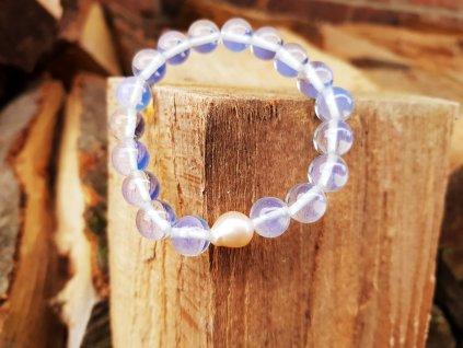 Něha 7 Náramek (opalit, sladkovodní perla)1