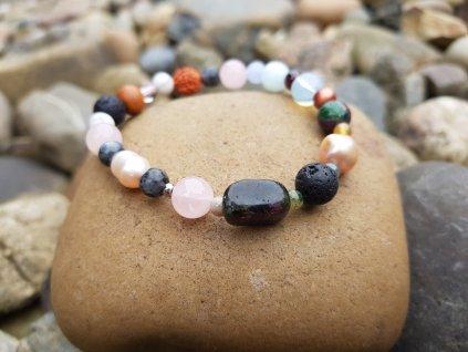 Melani Náramek (minerály, perly, santal)1