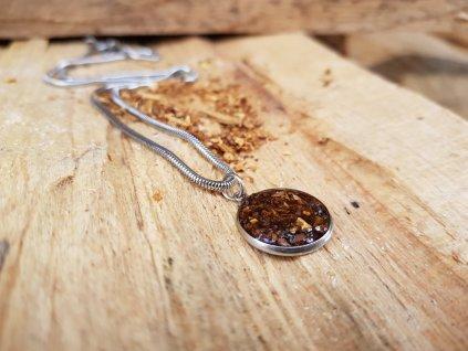 Havana Náhrdelník (ocel, tabáček)1