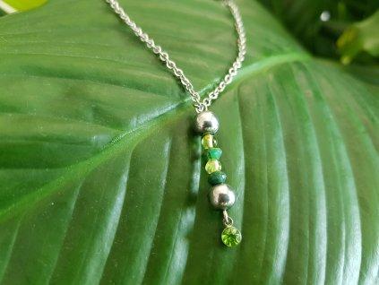 Olivia 2 Náhrdelník (smaragd, olivín, chir.ocel)1
