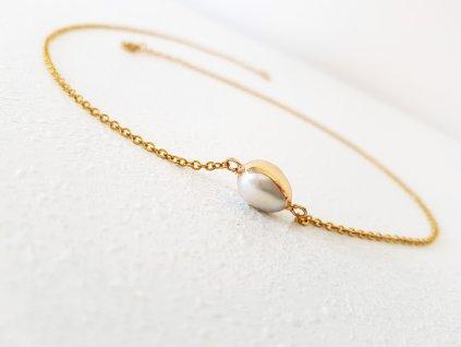 Terry Náhrdelník (chirurgická ocel, perla)1