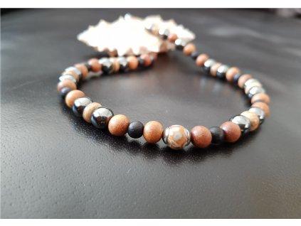 Bruno Pánský náhrdelník (santal, kokos, hematit)1