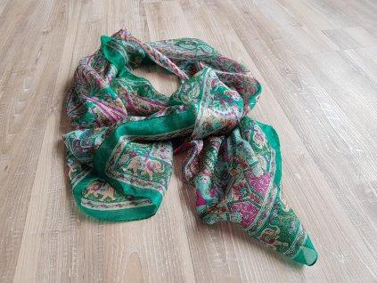 hedvabný šátek 1