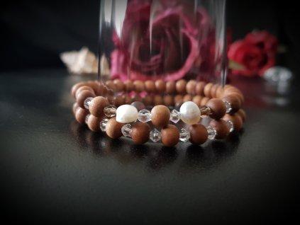 Chaprieu Set náramků (santal, perly)1