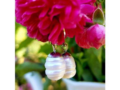 Pawe Náušnice (právé perly, chirurgická ocel )1