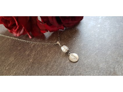 Sports mania Yoga Náhrdelník (perla, ocel)1