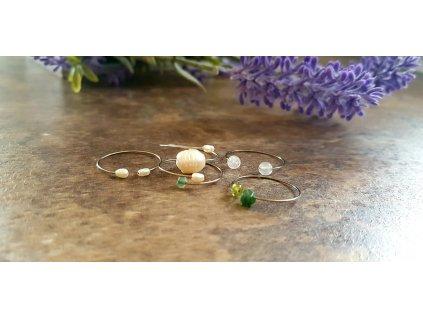Sada pěti prstenů (ocel, minerály)1