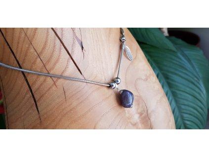Sabbi 4 Náhrdelník (nerezová ocel, ametyst)1