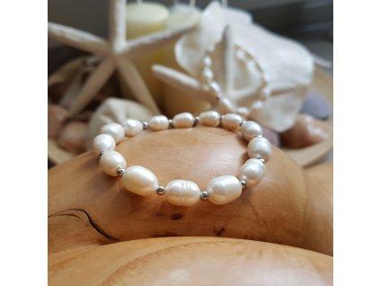 Perlení Náramek (perly, chirurgická ocel)1