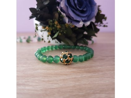Smaragdové moře Náramek (achát)1
