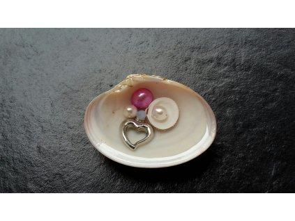 1436 ukryte srdce talisman musle a perly