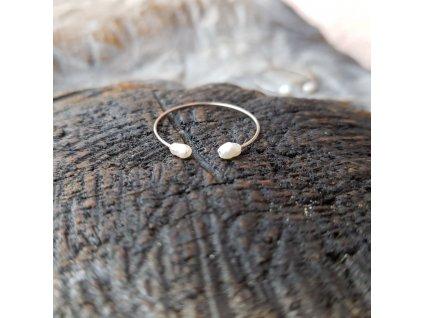 Perlení 2 Prstýnek (ocel, perly)1