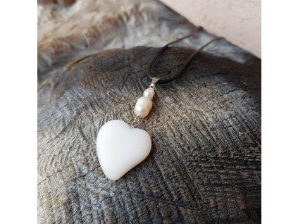 Od srdce 2 Náhrdelník (říční perly, sklo)1