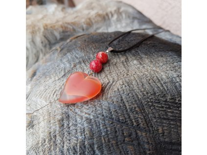 Od srdce 4 Náhrdelník (variscit, sklo)1