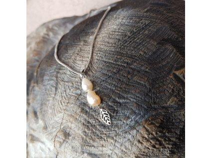 Niky Náhrdelník (nerezová ocel, říční perly)1