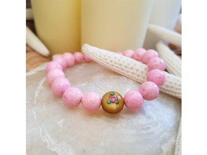 Rose Náramek (perleť, vynutá perla)1