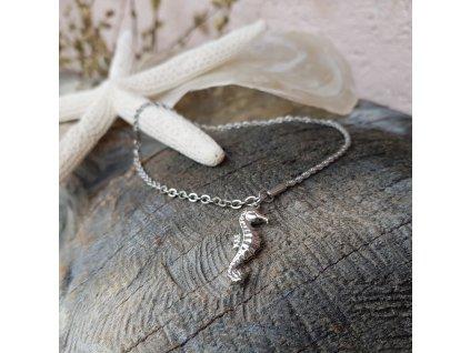 Nákotník s mořským koníkem (Nerezová ocel)1