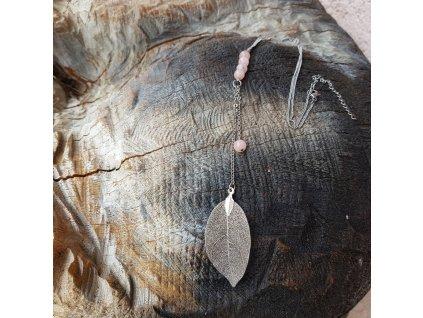 Ynke Nan Náhrdelník (pravý list,třešňový jaspis)1