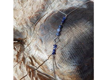 Sirael L2 Náhrdelník (lapis lazuli, nerezová ocel, chirurgická ocel)1