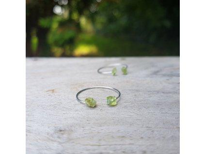 Oliva 2 Prstýnek (olivín, ocel)1