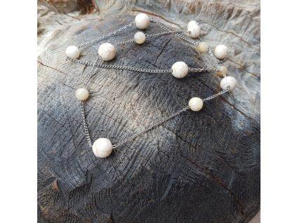 Michaelle 4 Náhrdelník (ocel, perleť, minerál)1