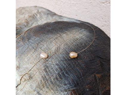 Levitace Náhrdelník (ocel, perly)1