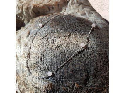 Gandia 5 Náhrdelník (chirurgická ocel, růženín)1