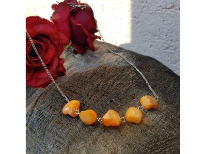 Orange Náhrdelník (nerez. ocel, perleť)1