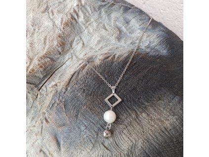 Suelin Náhrdelník (chirurgi. ocel, říční perla)1