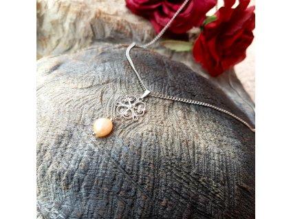 Sue 2 Náhrdelník (nerezová ocel, perla)1