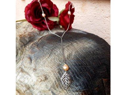Sue 4 Náhrdelník (nerezová ocel, perly)1