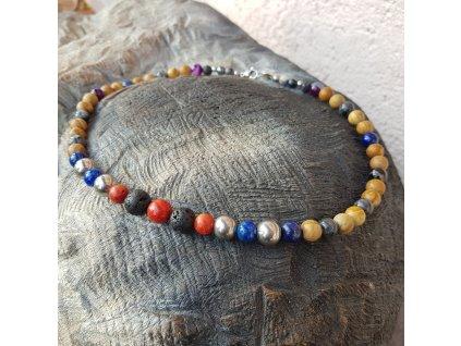 Paul Pánský náhrdelník (minerály, lávový kámen)1