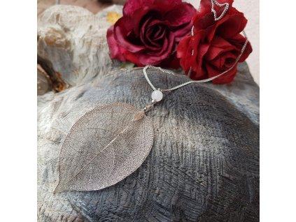 Ynke Ah Náhrdelník (pravý list, růženín)1