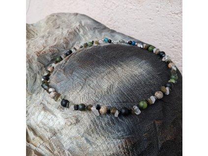 Todd 2 Pánský náhrdelník (mix minerálů)1