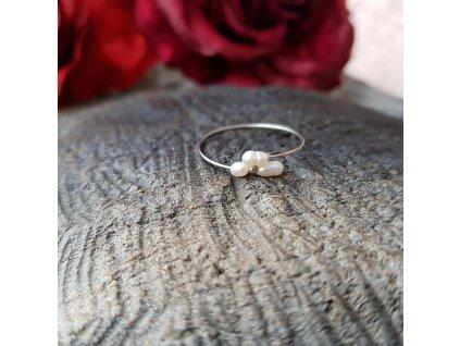 Perlení 10 Prstýnek (říční perly)1