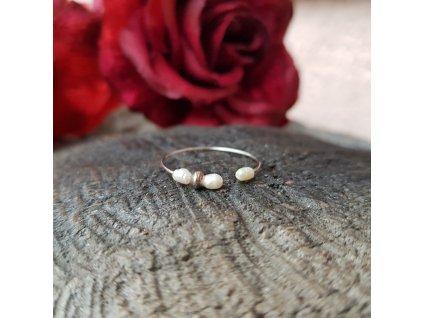 Perlení 11 Prstýnek (říční perly)1