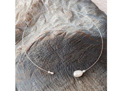 Levitace 7 Náhrdelník (říční perly)1
