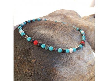 Kirk 2 Pánský náhrdelník (mix minerálů)1