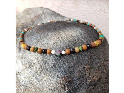Meko 16 Pánský náhrdelník (santal, minerály)1