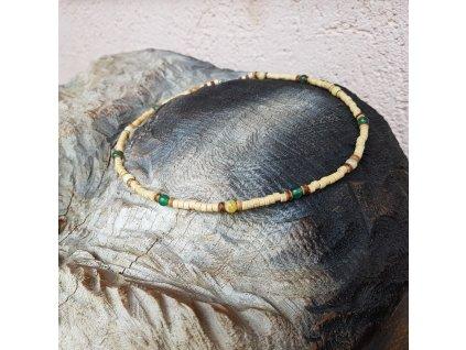 Don Pánský náhrdelník (achát, opál, dřevo)1