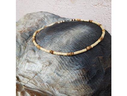 Don 2 Pánský náhrdelník (jaspis, dřevo)1