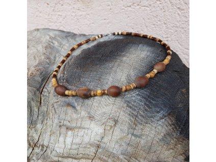 Timo Pánský náhrdelník (lotos, jaspis, kokos)1